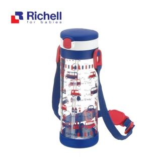【Richell 利其爾】第四代LC 450ml 吸管式冷水壺 附背帶 -(貝克街)
