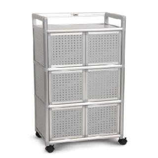 【AS】吉利2尺鋁合金六門櫃-黑花格-64.7x50.8x115.3cm(DIY)