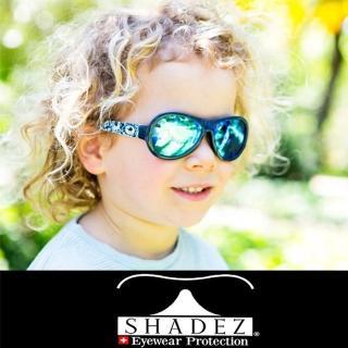 【瑞士SHADEZ】兒童太陽眼鏡 深藍迷彩 3-7歲(台灣製造 鏡架可彎)