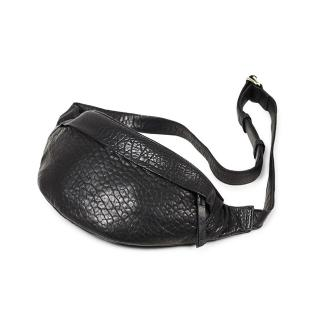 【MARKBERG】Tova 丹麥手工牛皮個性托瓦腰包 胸包 斜背包(泡泡黑)