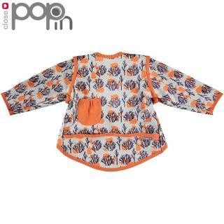【Close】Pop-in 嬰兒多功能防水圍兜/畫畫衣18-36m-狐狸先生(防水口袋圍兜)