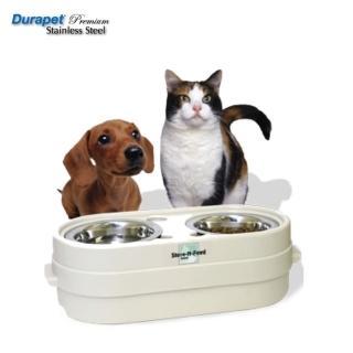 【Durapet】寵物碗兼飼料儲存桶兩用(小型寵物專用)〈S〉(DU-76302)
