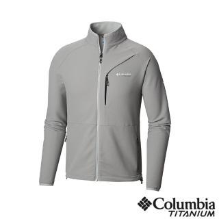 【Columbia 哥倫比亞】男款-鈦 防潑彈性外套-灰色(UAE06840GY / 防潑.彈性.運動)