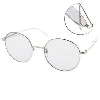 【PAUL HUEMAN】簡約潮流圓框眼鏡(銀-藍鏡片#PHS915A C02)