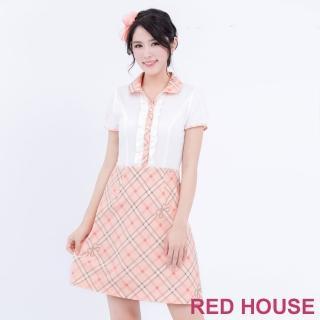 【RED HOUSE 蕾赫斯】POLO衫格子洋裝(共2色)