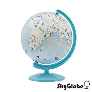 【SkyGlobe】10吋可愛動物插圖塑膠地球儀(繁中英文對照)