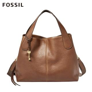 【FOSSIL】MAYA 咖啡色柔軟真皮手拿包ZB7566200