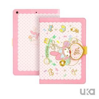 【SANRIO 三麗鷗】Apple iPad mini 2019/mini 5 7.9吋 Kitty系列智能休眠可立式磁扣保護套(糖果美樂蒂)