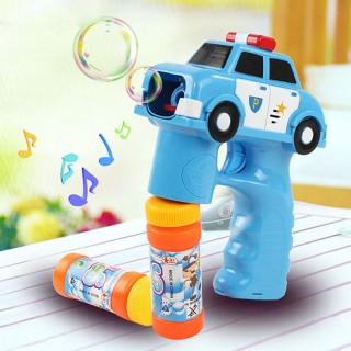 【888ezgo】警察車造型連續式電動泡泡槍(有LED燈+音樂)