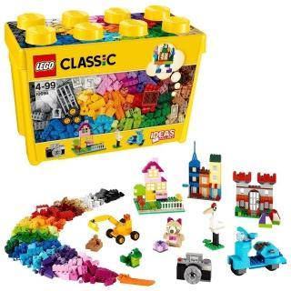 【LEGO 樂高】經典套裝 樂高大型創意拼砌盒桶 10698 積木 玩具(10698)
