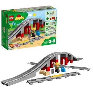 【LEGO 樂高】得寶幼兒系列 鐵路橋與鐵軌 10872 積木 幼兒(10872)