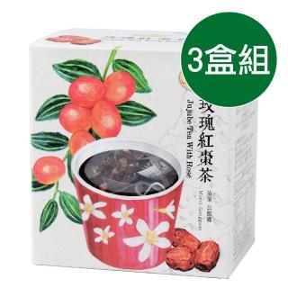 【曼寧】台灣玫瑰紅棗茶輕巧盒3盒組(3gx15入/盒)