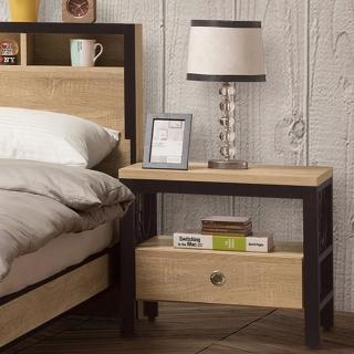 【H&D】鋼尼爾床頭櫃(床頭櫃 收納櫃 床邊櫃 置物櫃)