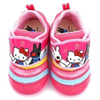 【童鞋城堡】麗莎與卡斯伯xKitty 中童 毛毛蟲輕量運動鞋(GK7961-粉)