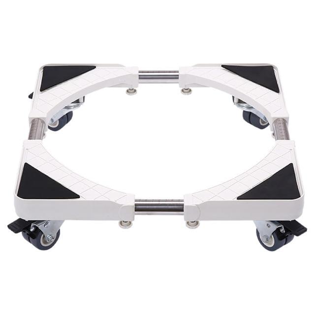 【CityShop】不鏽鋼洗衣機升降移動底座托架-B款四雙輪煞車(架子、拖車、洗衣機)/