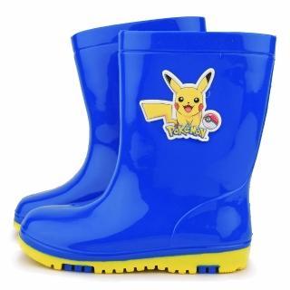 【童鞋城堡】雙色大底雨鞋 神奇寶貝-寶可夢(PA7304-藍)