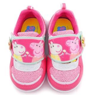 【童鞋城堡】佩佩豬小花透氣運動鞋 粉紅豬小妹(PG8555-桃)