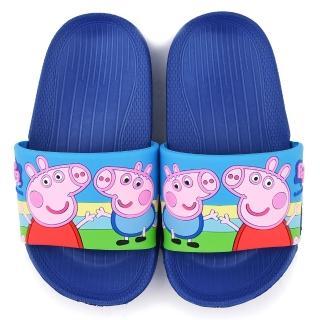 【童鞋城堡】粉紅豬小妹 佩佩豬 中童 超輕量造型款拖鞋(PG0042-藍)