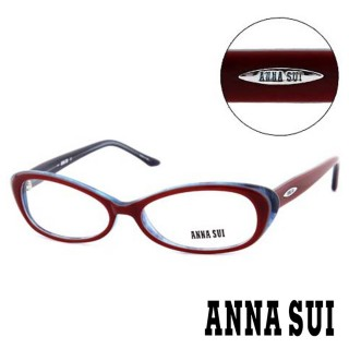 【ANNA SUI 安娜蘇】時尚基本款造型光學眼鏡-酒紅(AS09002)