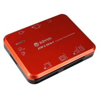 【KINYO】多合一7插槽晶片讀卡機(晶片讀卡機)
