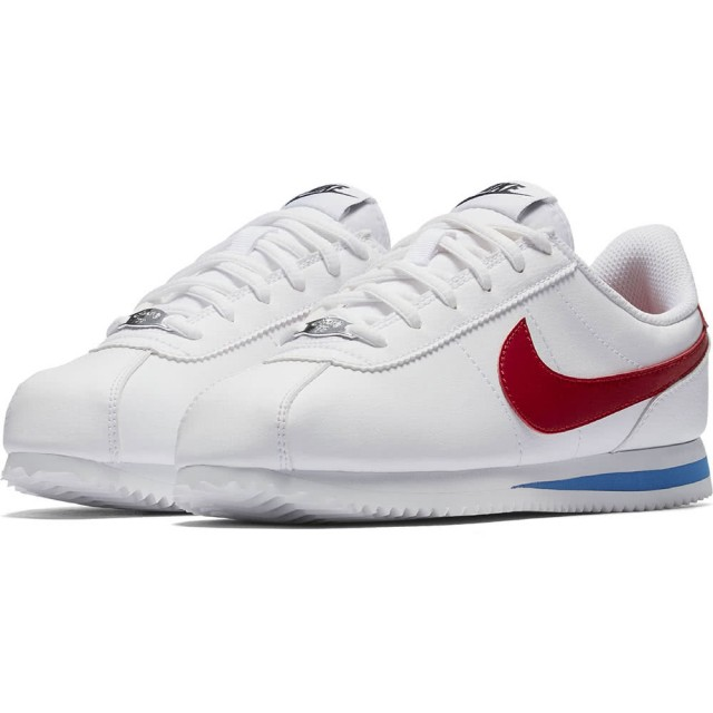 【NIKE 耐吉】CORTEZ BASIC SL GS 白/紅-904764103(童休閒鞋)