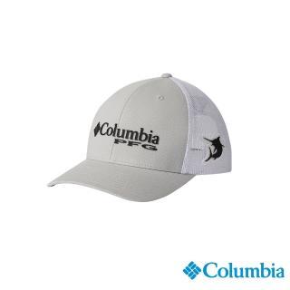 【Columbia 哥倫比亞】男女款-LOGO PFG棒球帽-灰色(UCU95250GY / 休閒.踏青.戶外)