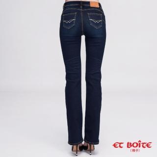 【BLUE WAY】經典弧線高腰靴型褲 - BLUE WAY ET BOITE箱子