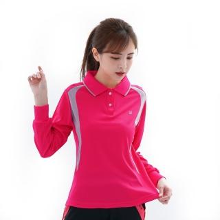 【遊遍天下】台灣製女款顯瘦抗UV吸濕排汗機能POLO長衫L063(M-5L)