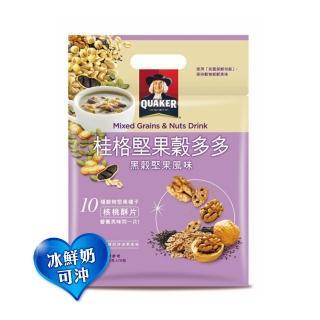 【QUAKER 桂格】堅果穀多多系列-黑穀堅果風味(10入/袋)
