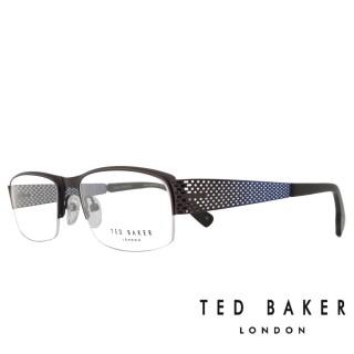 【TED BAKER】英國時尚金屬造型光學眼鏡(TB4188-919·水手藍)