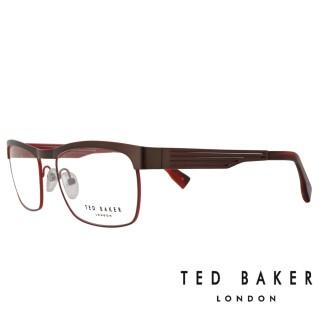 【TED BAKER】倫敦簡約魅力流線光學眼鏡(TB4182-925·酒紅)