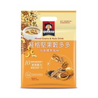 【QUAKER 桂格】堅果穀多多系列-焙香腰果風味(10入/袋)