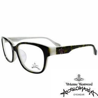 【Vivienne Westwood】ANGLO MANIA系列-五芒土星琥珀撞色光學眼鏡(AN282-01-乳白)