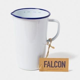 【英國 Falcon】獵鷹琺瑯 琺瑯2品脫冷水壺 1.1L 藍白