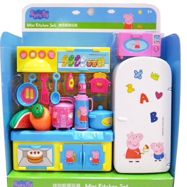 【TDL】粉紅豬小妹佩佩豬廚房冰箱玩具家家酒玩具組 012011