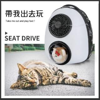 【iCat 寵喵樂】太空艙散熱風扇外出寵物雙肩背包