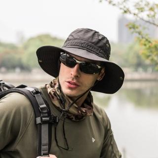 【PUSH!】戶外用品戶外登山帽折疊帽子男女防曬帽遮陽帽夏季速乾漁夫帽(H31)
