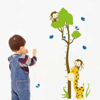 【JB Design】時尚壁貼(猴子爬樹身高貼)
