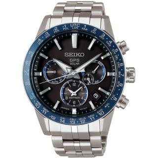 【SEIKO 精工】Astron 5X53鈦金屬雙時區GPS衛星定位錶(5X53-0AB0B/SH001J1)