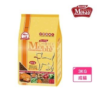 【Mobby 莫比】成貓抗毛球專業配方 3kg(成貓化毛飼料)