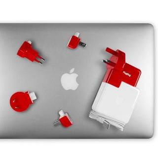 【Twelve South】PlugBug World Apple Macbook 擴充電源供應器/萬用轉接器(紅色)
