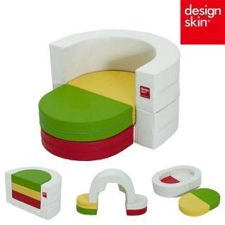 【韓國design skin】兒童圓形蛋糕沙發椅(球池樂園 收納 書桌椅 餐桌椅 畫畫桌 幼兒 寶寶沙發)