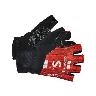 【CRAFT】Team Sunweb 車隊版短手套 1908214 紅色(男款 環法 車隊版 紅色 吊帶車褲)