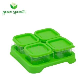 【Green Sprouts】副食品小分裝盒60ml(一組4入-玻璃-綠色)