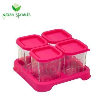 【Green Sprouts】副食品小分裝盒120ml(一組4入-玻璃-粉色)