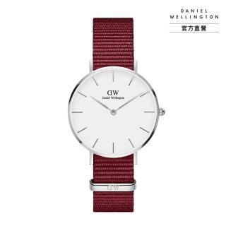 【Daniel Wellington】官方直營 Petite Roselyn 32mm玫瑰紅織紋錶(DW手錶DW00100292)
