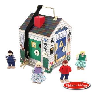 【Melissa & Doug 瑪莉莎】木製門鈴娃娃屋