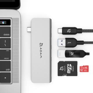 【ADAM】Hub 5E USB 3.1 USB-C 5 合 1 多功能轉接器(一秒擴充MacBook Air)