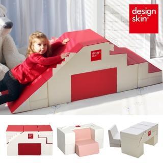 【韓國design skin】寶寶溜滑梯變形沙發桌椅(三色任選-感官統合訓練 收納 書桌 餐桌 畫畫 幼兒 兒童沙發)