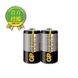 【超霸】GP-超霸-黑-1號超級碳鋅電池2入(GP原廠販售)